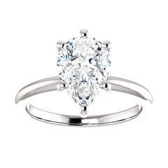 Pear diamond solitaire ring 2