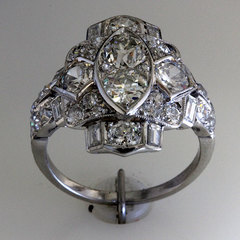 Antique diamond two stone ring 1