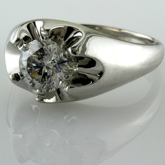Mens solitaire diamond ring belcher 2