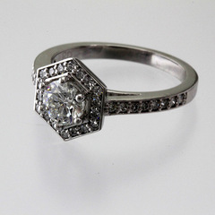 ed259e910b937 Hexagon Halo Engagement Ring With Round Brilliant - Richard Dolgin ...