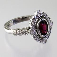 Sapphire diamond vintage ring %282%29