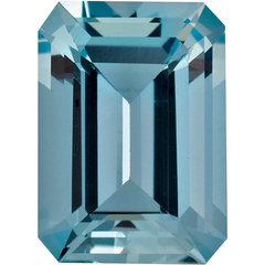 Emerald cut aquamarine engagement ring jewelry