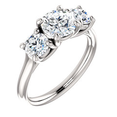 3 stone diamond round ring 3