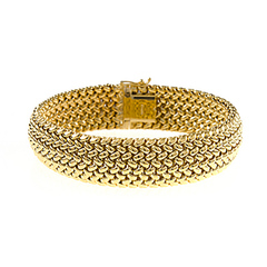 18k gold mesh bracelet